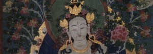 White Tara Thangka, Old Theatre Inn lobby, Shaxi Yunnan China