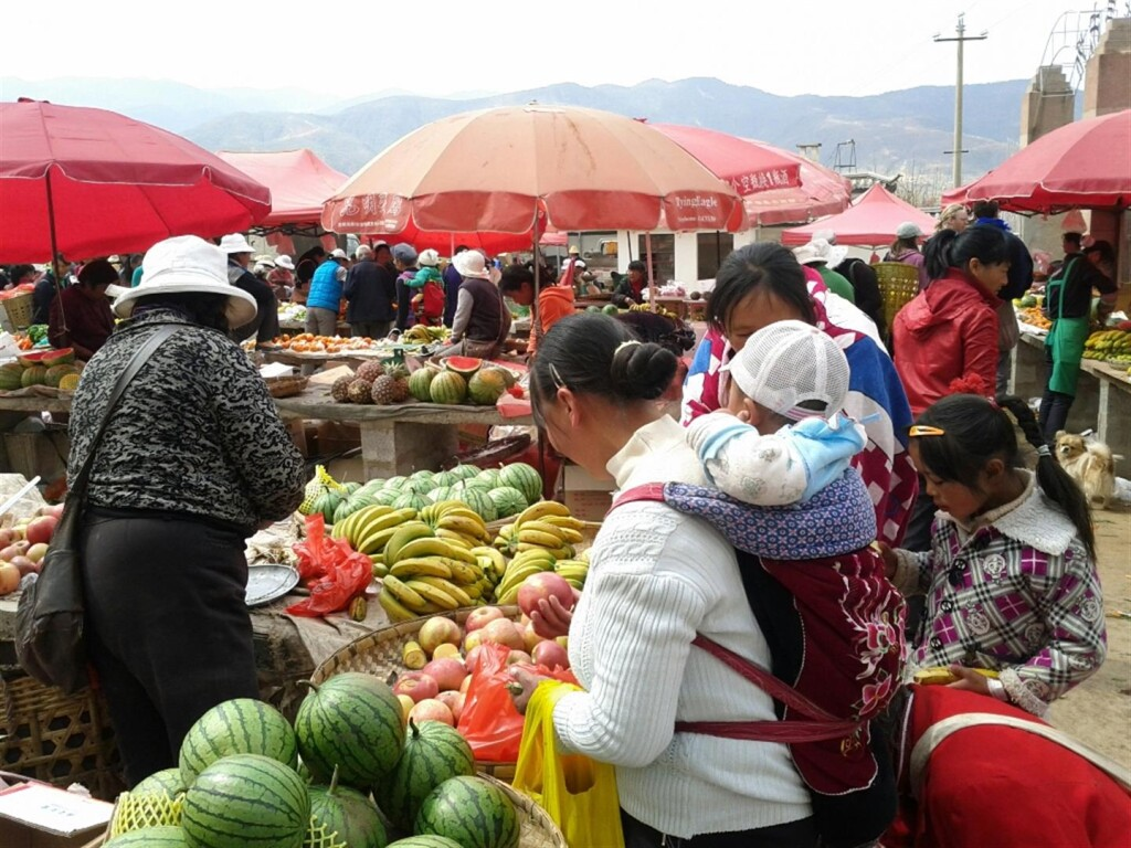 Shaxi Friday market is a must see for visitors to Shaxi Yunnan China