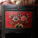 Antique cabinet in Shaxi guesthouse room - Old Theatre Inn - Yunnan China
