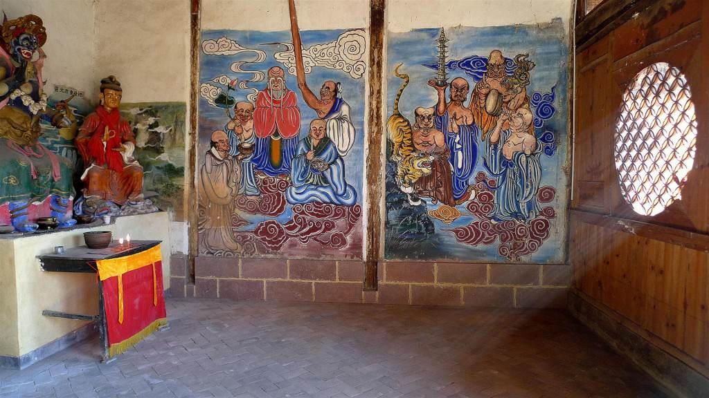 Shaxi temple painting - Shaxi Yunnan China