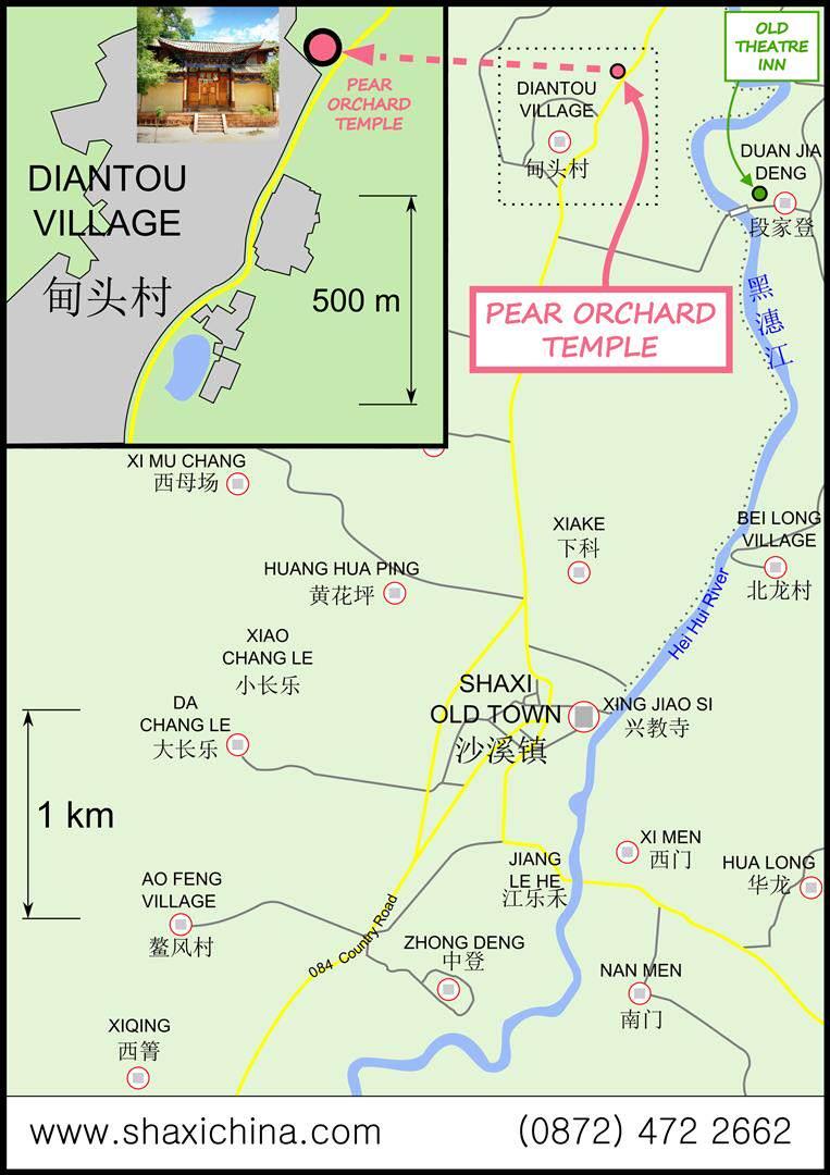 Map of Shaxi Yunnan China download