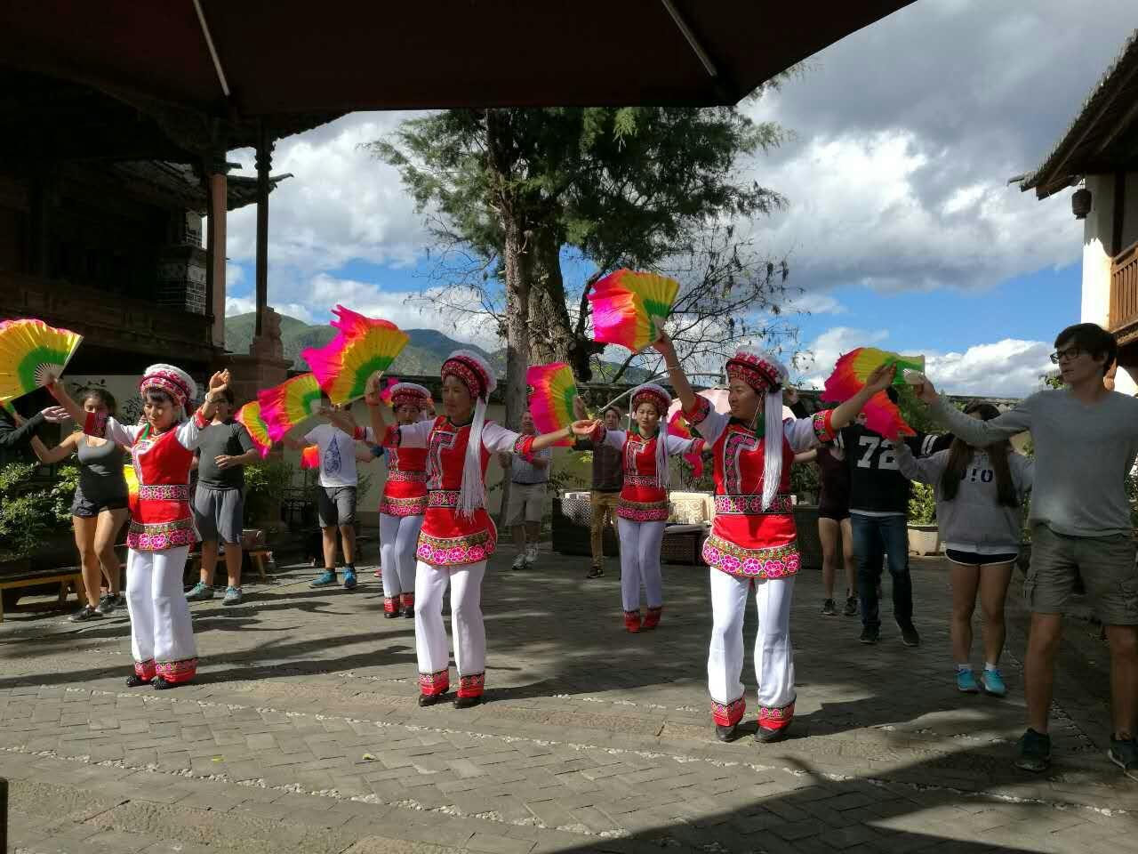 Shaxi music and dance at Old Theatre Inn - Shaxi Yunnan China